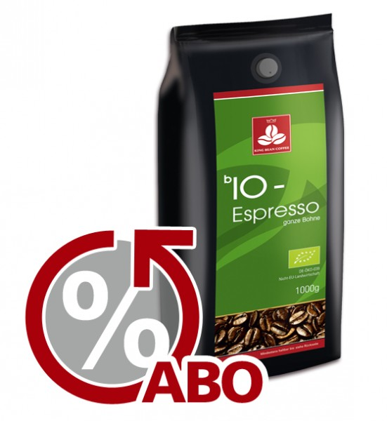 King Bean Bio-Espresso ganze Bohne 1000 g